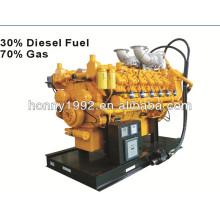 800kW / 1000kVA Combustible diesel et nature Générateur de gaz bi