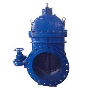 gate valve with by-pass valve
