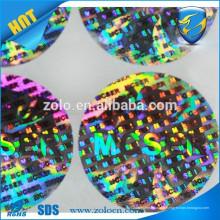 Sticky anti-faux Bouteille de vin Emballage laser matrice matricielle étiquette d'étiquette / autocollant