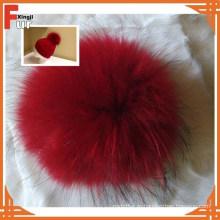 Заказ реальный енота мех мяч для шляпы