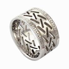 Anillo al por mayor de las mujeres del diamante del acero inoxidable de la joyería