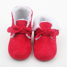 Hot Red Baby Leder Kinder Winter Stiefel Großhandel