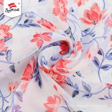 Tela impresa gasa de moda de la flor para el vestido