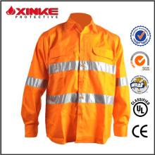 100% хлопок светоотражающие УФ-защита с длинным рукавом рубашки мужчин
