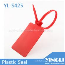 Etiquetas de selo de plástico grandes em remessa logística