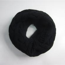 Машинный трикотаж Черный жаккардовый шарф