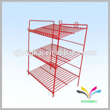 House hold metal wire floor stand soda can display rack