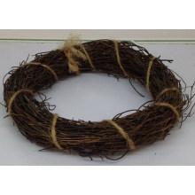 Diy natural bare circle rattan ring