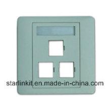 Plaque de façade à 3 ports compatible pour Sc LC FC St