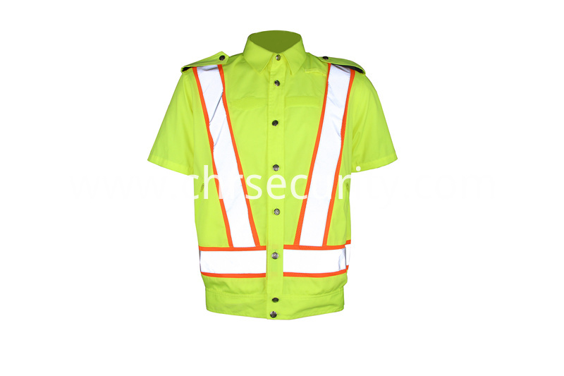 Traffic safety reflective work clothes