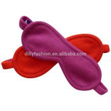 Super suave e confortável cachemira knit travel sono máscara de olho