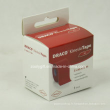 Boîte d'emballage en carton en papier à impression personnalisée avec carte d'en-tête