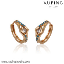 93414 Xuping Jewelry Fashion Boucles d'oreilles plaqué or 18 carats