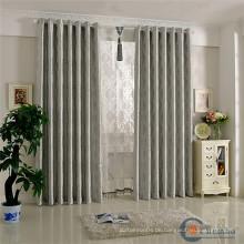 Grauer Jacquard fertig Vorhang für Wohnzimmer