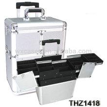 2014 nuevo diseño de caja de la carretilla de maquillaje profesional