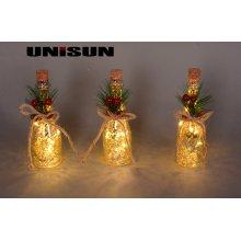 Luz de la botella Decoración casera Decoración del arte del vidrio con el cobre LED (17010)