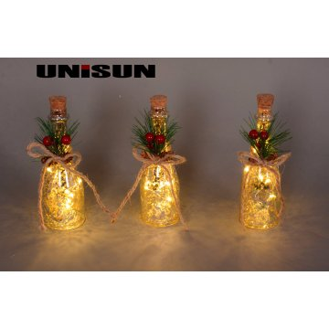 Bottle Light Home Decoration Glass Craft Lighting with Copper LED (17010)