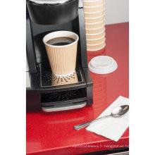 Tasses en papier pour café / thé et couvercles SIP - jetables pour boissons chaudes
