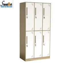 École utilisé meubles en métal étudiant dortoir 6 portes armoire