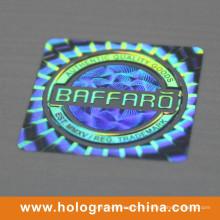 Impression d'étiquettes d'hologramme de sécurité laser 3D d'or