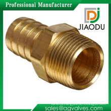 High quality manufacturer 1 1/2bsp forged brass threaded nickel plating hose straight barb fittings with competitive price