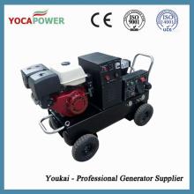 5kVA gasolina soldadura portátil elétrica gerador de gasolina com compressor de ar