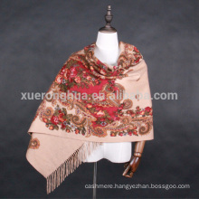 double face digital printing women cashmere shawl