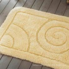 Couleur unie de bonne qualité Jacquard tapis de bain