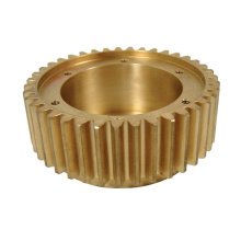 Precision Machined Bronze Spur Gear dengan HUb