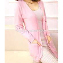 15PKCAS05 Lady trendy cardigan 100% suéter de cashmere cardigan