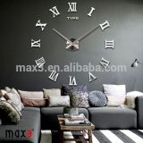 2017 Small size or big size Chinese wall sticker clock for home
