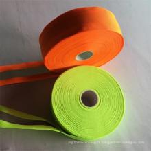 Ruban polyester réfléchissant haute lumière pour vêtements réfléchissants de sécurité