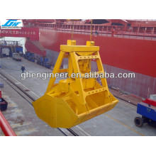 12CBM wireless remote control grab bucket for handing bulk material