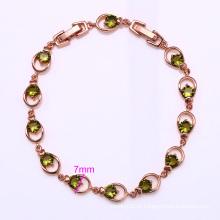 Xuping elegante rosa pulseira cor de ouro (72548)
