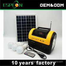 10W 12V indoor mini solar home lighting system