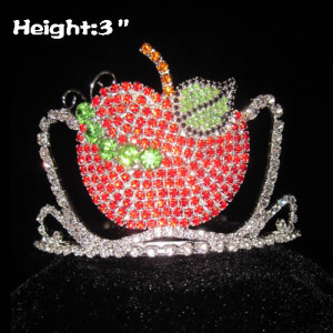 Crystal Caterpillar Coronas de desfile en forma de manzana