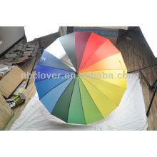 Paraguas del arco iris / paraguas recto / sombrilla de encargo