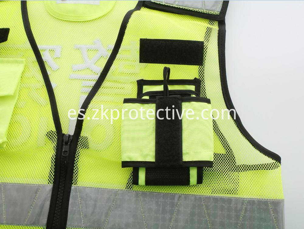 Safety Police Jacket Pocket