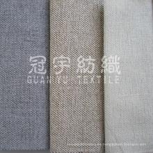 Tela de la cortina de lino poliester para textiles para el hogar