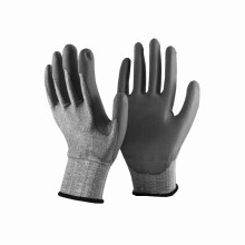 NMSAFETY 18gauge PU anti cut handling glove safety security