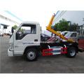 Diesel engine hook lift garabge bins vehicle
