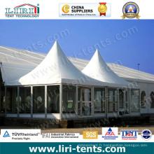 Tentes extérieures de pagoda de qualité avec le mur en verre à vendre