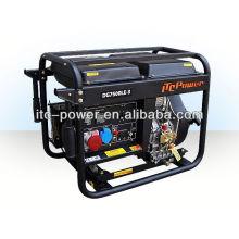 ITC-Power 5kVA DG6000LE Generador Diesel marco abierto