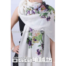 Bufanda y mantón de cachemira pintados a mano de damas