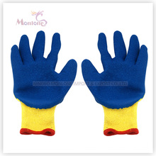 10g Crinkle Latex Palm Coated Polyester Safety Working Garden Gloves
