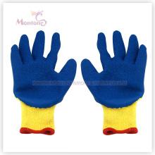 10г ладони латекса crinkle Покрынный полиэфир безопасности работы перчатки сада