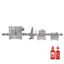Chinese Soy Chili Sauce Bottle Bottling Filling Capping Filler Chiller Machine