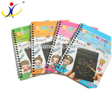 Various Kinds of Latest Design High Quality Scratch Book with a Wood Pen