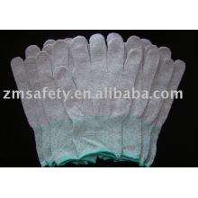 Guantes de punto de nylon sin costuras ESD