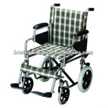 Asiento y respaldo de nylon Silla de ruedas manual estándar